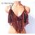 Halloween Crochet Top, Gypsy Hippie Crochet Fringe Top, Black Orange Bralet