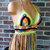 Crochet Fringe Top, Halter Festival Top, Gypsy Crazy Dazzy Multicolored Halter