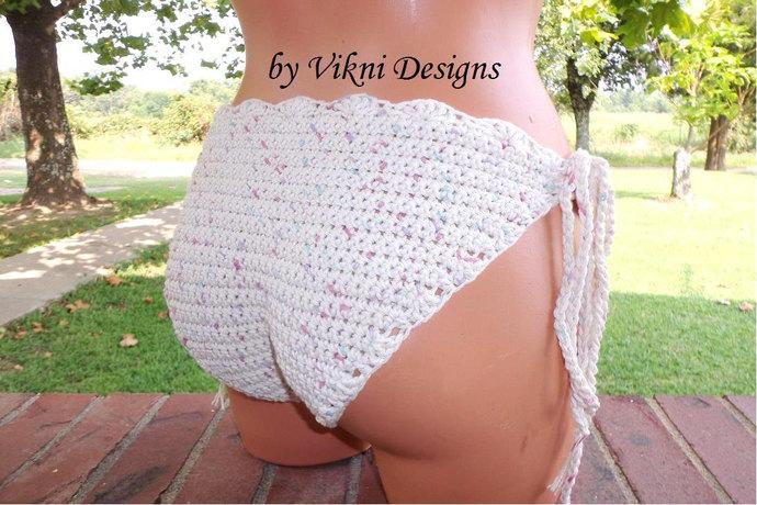 Crochet Brazilian Cheeky Bikini Bottom by Vikni