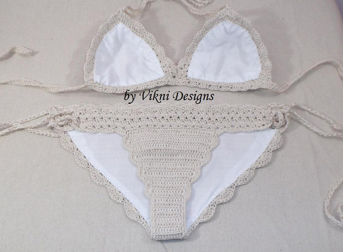 Add Sheer Lining to any Crochet Bikini Sets Ordered from Vikni Designs