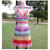 Crochet Skirt, Pastel Rainbow Over Lay Skirt, Lace Skirt, Beach Cover up,