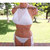 High Neck Crochet Bikini, Crochet Brazilian Bikini in White by Vikni Designs