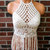 High Neck Fringe Crochet Top by Vikni Designs