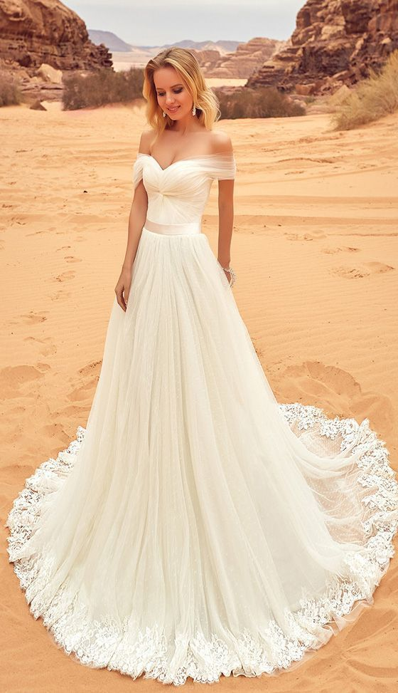 Long White Wedding Dresses With Applique By Destinydress On Zibbet