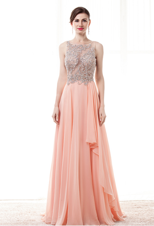 Blush Pink Prom Dresses,Beaded Prom Dress by prom dresses on Zibbet