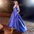 High Low Prom Dress, Royal Blue Prom Dress, Satin Prom Dress, Sexy Prom Dress,