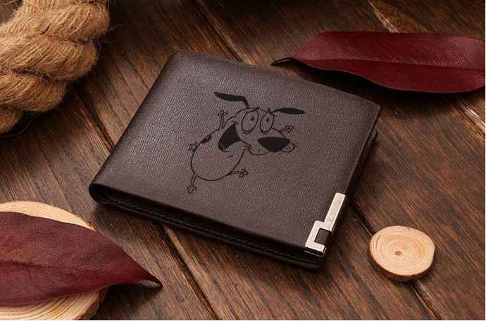 Courage the cowardly dog  Leather Wallet