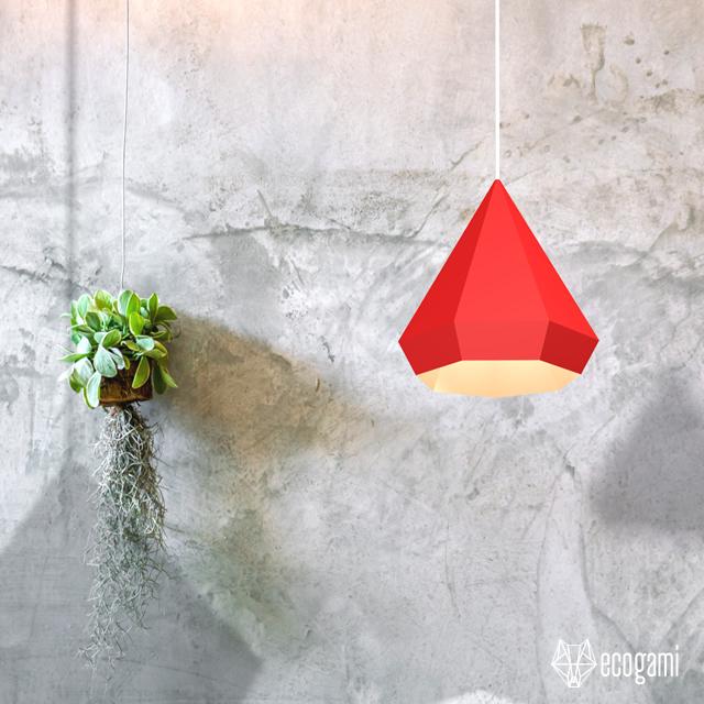 Make your own DIAMOND lampshade | DIY papercraft project | Modern, minimalist &