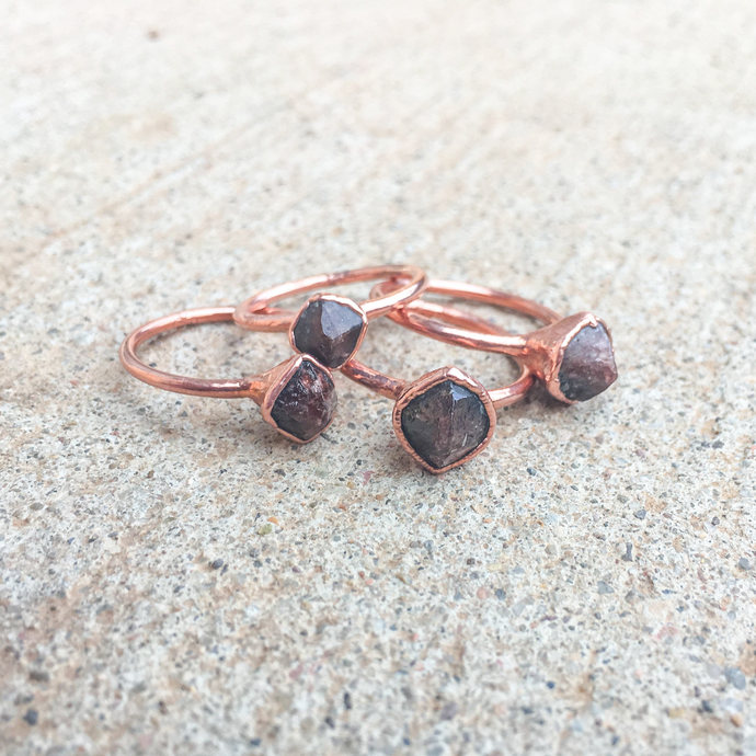Zircon Ring | Brown Zircon Ring |  Electroformed Ring | Brazilian Zircon Ring |