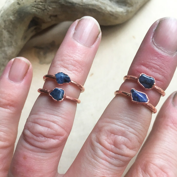 Dumortierite Midi Ring | Dumortierite Ring | Birthstone | Birthstone Ring |