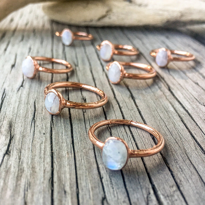 Moonstone Ring | June Birthstone | Engagement Ring | Crystal Ring |