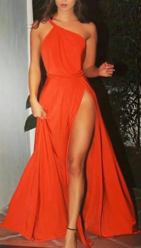 f767110319c Red One Shoulder Prom Dress