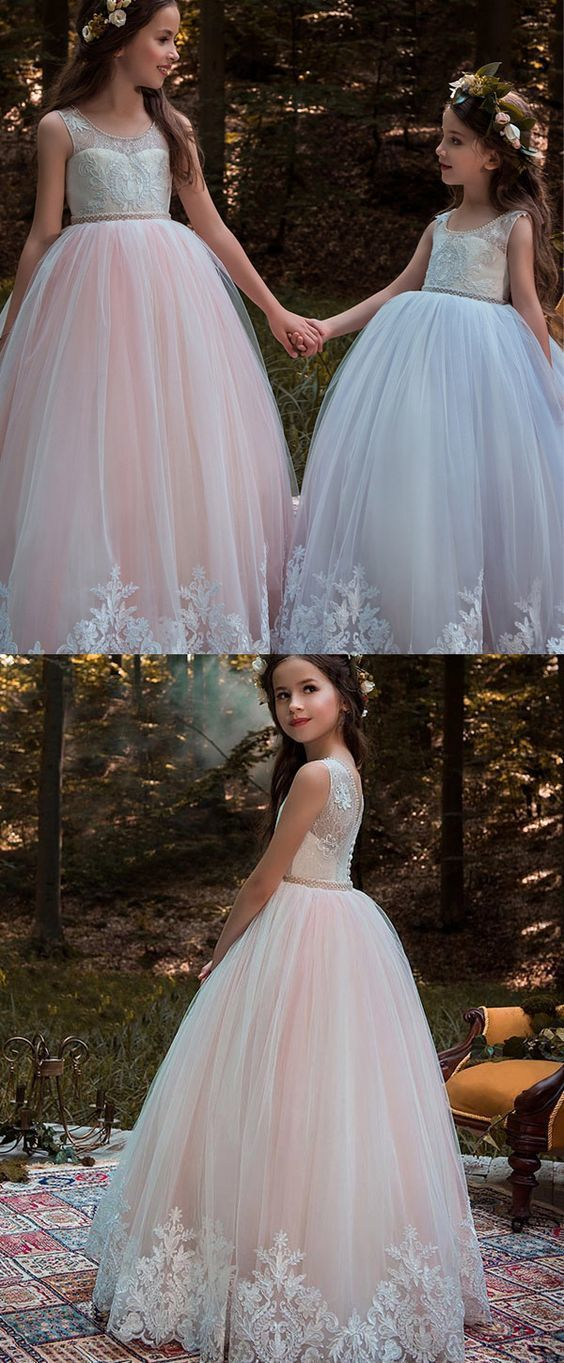 Little Girl Ball Gown, Flower Girl Dresses With by MeetBeauty on