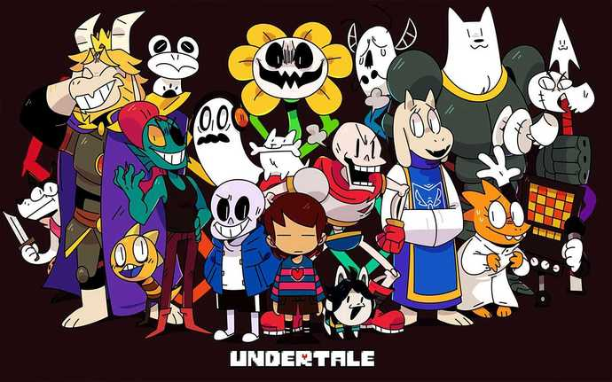 """Undertale Game Canvas Print (13""""x19"""" or 18""""x28"""")"""
