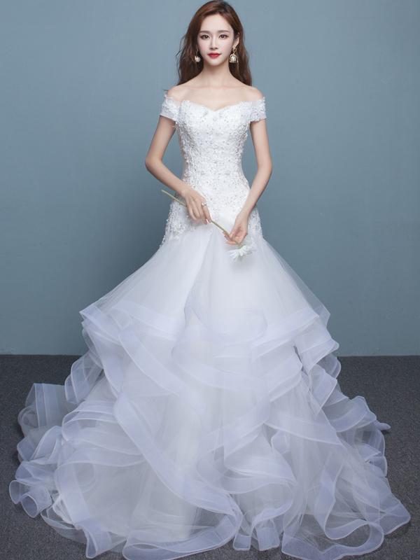 Long Wedding Dress, Gorgeous Wedding Dress, by prom dresses on Zibbet