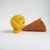 Scoopsie Mango, a friendly ice cream scoop , felt wool plush Art Toy,