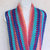 Infinity Moebius Scarf, spiral crocheted in Southwestern Honeydukes colors,