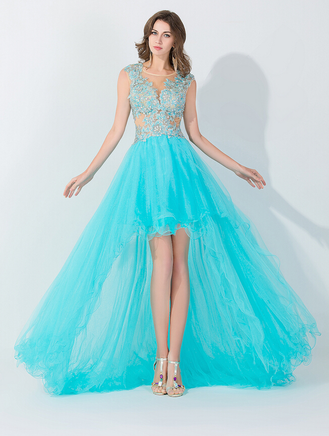 high low prom dresses, tiffany blue prom dresses, tulle prom dresses,prom