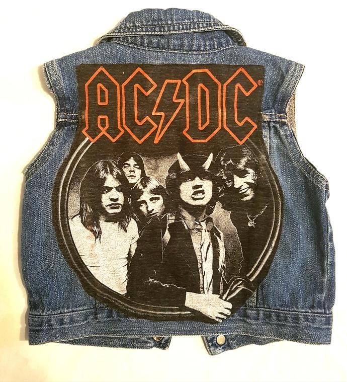 BABY ACDC denim rock vest-size 18-24mos