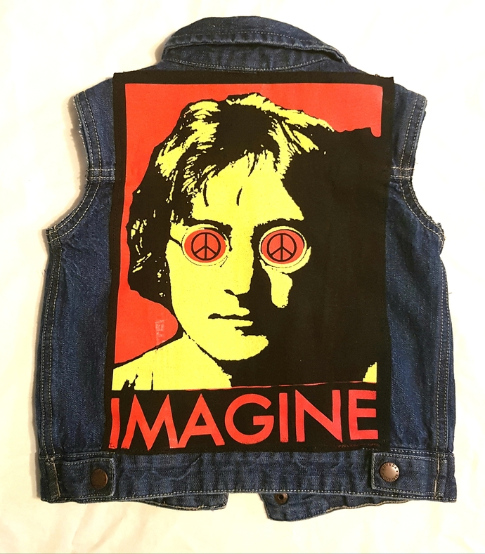 Toddlers-IMAGINE John Lennon denim vest size 3/4