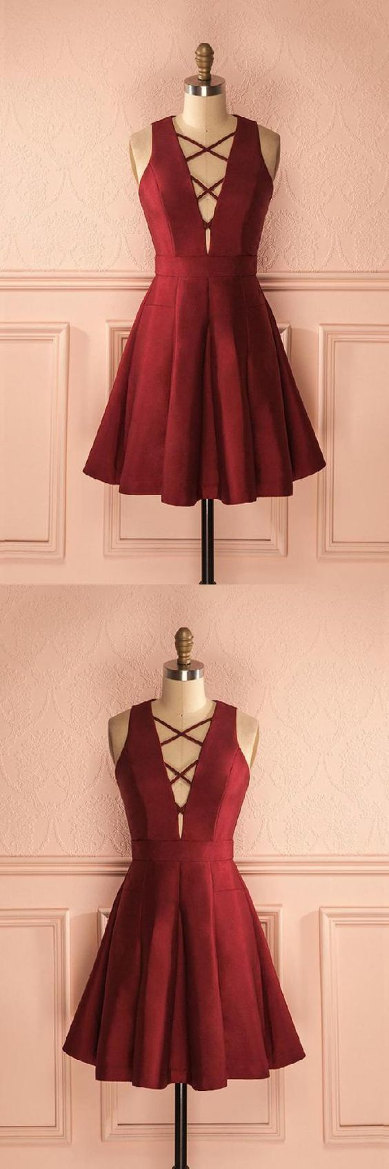 Lace Homecoming Dresses, Burgundy Homecoming Dresses