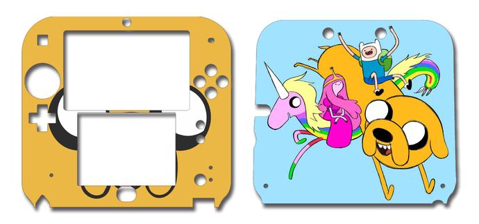 ADVENTURE TIME JAKE AND FINN Nintendo 2DS Vinyl Skin Decal Sticker