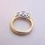 Womens Vintage Estate 14K Gold & Platinum Leo Diamond Engagement Ring 4.9g