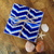 Blue Chevron Coasters