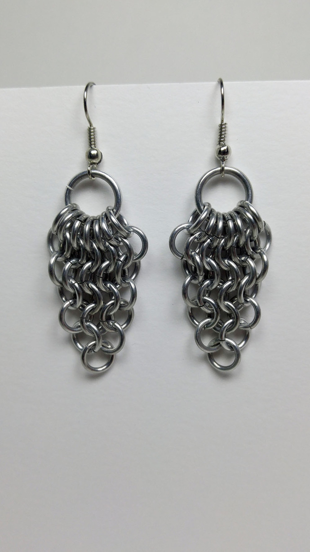 chainmaille earrings, chainmail earrings, chain mail jewelry