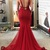 Red Mermaid Long Prom Dress, Gorgeous Prom Dress Evening Dress