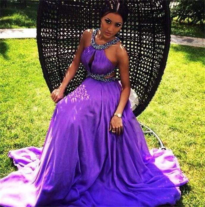 Cheap prom dresses 2017,Purple Prom Dresses chiffon evening dresses