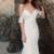 Spaghetti Straps Lace Mermaid Wedding Dresses, Chiffon Open-Back Wedding Dresses