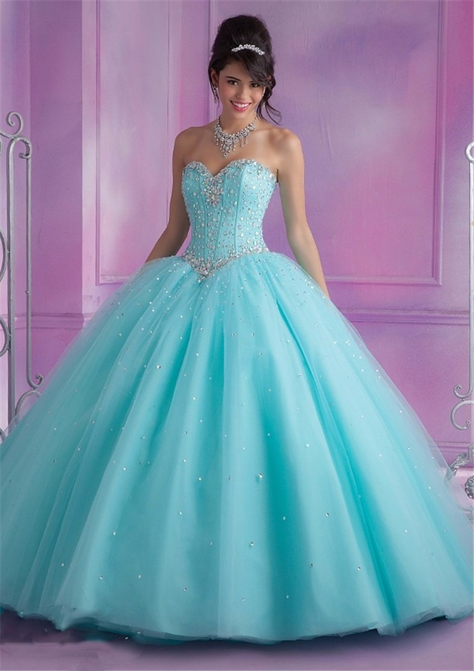 Mint Blue Quinceanera Dresses Ball Gown With by prom dresses on Zibbet