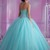 Mint Blue Quinceanera Dresses Ball Gown With Beads Cheap Quinceanera Gowns-