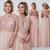 Rose Gold Sparkly Mismatched Sequin Long Bridesmaid Dresses, Cheap Unique Custom