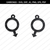 Mars symbol earrings svg, male boy symbol, gender charm earrings, boy symbol,