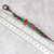 Zipper Pull or Charm with Red, Turquoise, and Wood-look Mixed Beads - Free US