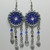 Dreamcatcher earrings, chainmaille earrings, dreamcatcher jewelry