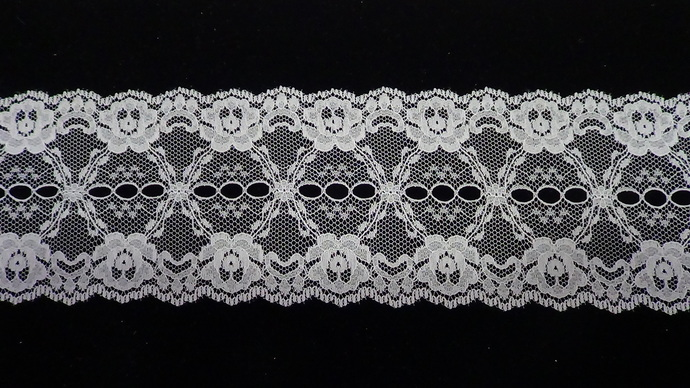 Ursula- 3 Inch Wide Ivory Floral Lace