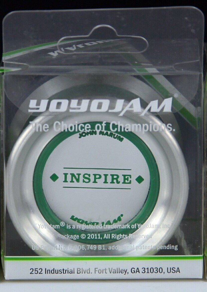 Very Rare YoYoJam Inspire (John Narum) Yo-Yo:  Green Diamond Body, Mint