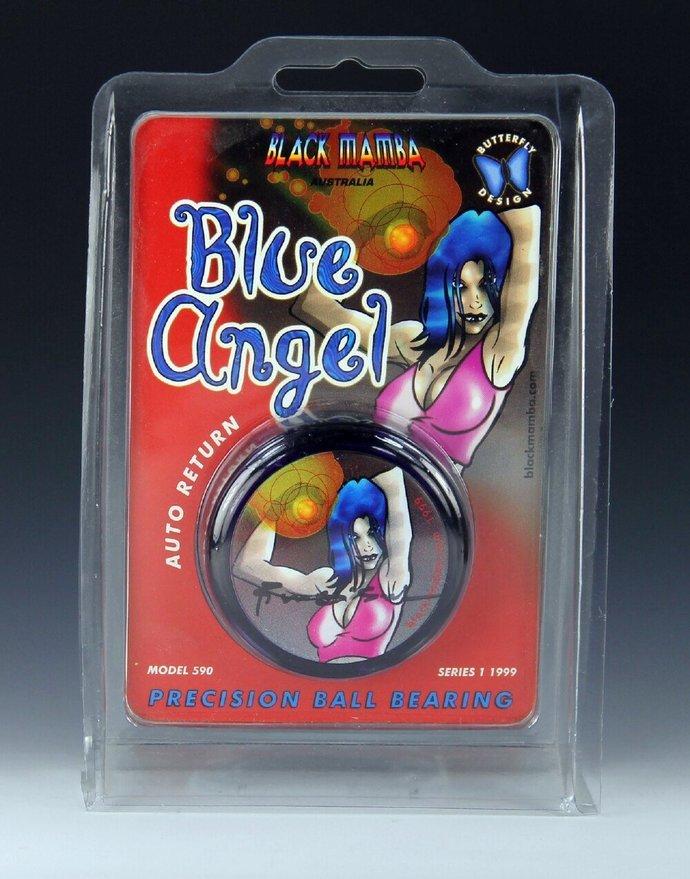 Extremely Rare Black Mamba Blue Angel Yo-Yo, Signed by Company Owner, Mint