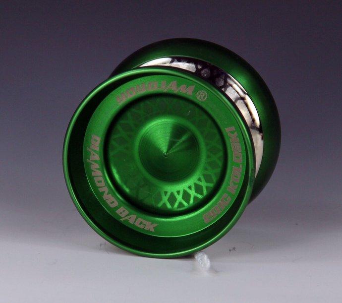 Very Rare YoYoJam DiamondBack Yo-Yo, Green Body, New - Mint Condition