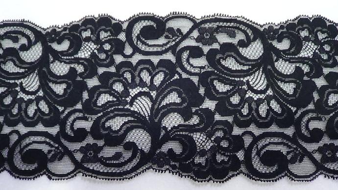 Nellie - 5 1/4 Wide Black Lace