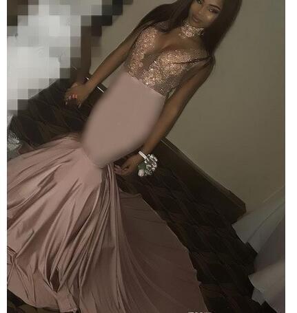 Elegant Black Grils Prom Dressess Mermaid High Neck Long Sweep Train Evening