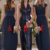 Bridesmaid Dresses For Weddings Navy Blue Sweetheart Jewel Neck Sequins A Line