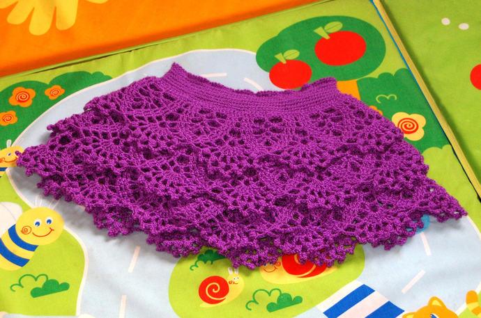 Crochet Skirt Baby Skirt Toddler Skirt Kids Gift Children Skirt Lace Skirt Girl