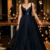Navy Blue Prom Dress  A Line Prom Dresses, Long Prom Dress