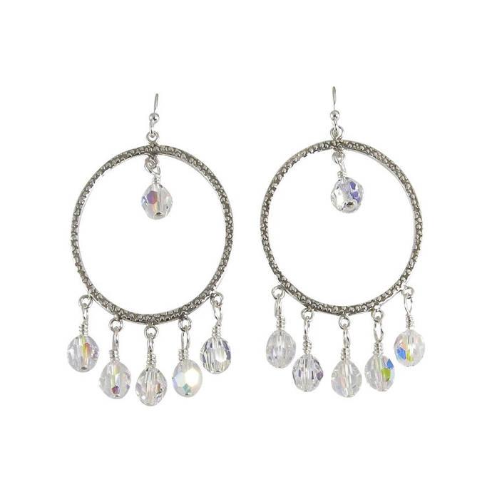 Clear crystal sterling silver chandelier by jewelrybytali on zibbet clear crystal sterling silver chandelier earrings aloadofball Images