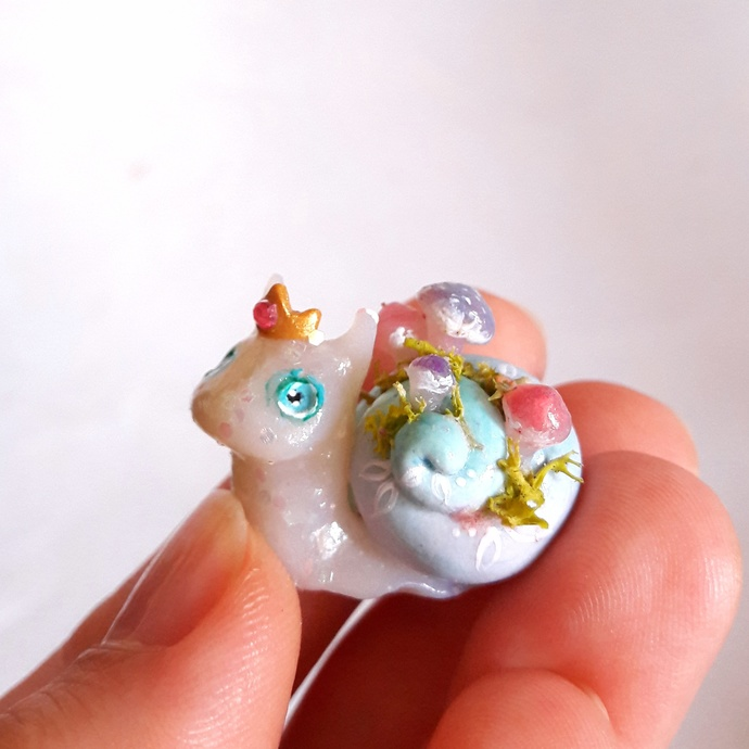 Mushooms snail miniature. One of a kind