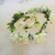 Boho Beach White Flower Crown and Bracelet Set Bride Maid of Honor Flower Girl